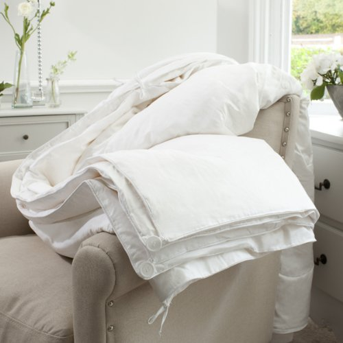 Jasmine Silk Couette 100% Naturelle Soie 4 Saisons 3 couettes en 1 Blanc 225 x 220 cm