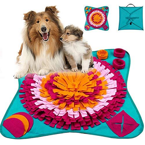 Tappetino Olfattivo Cane, Giochi interattivi per Cani Gatti, Tappeto Olfattivo Attivazione Mentale Cane, Tappeto Cane Giochi intelligenza, Resistente e Lavabile in Lavatrice