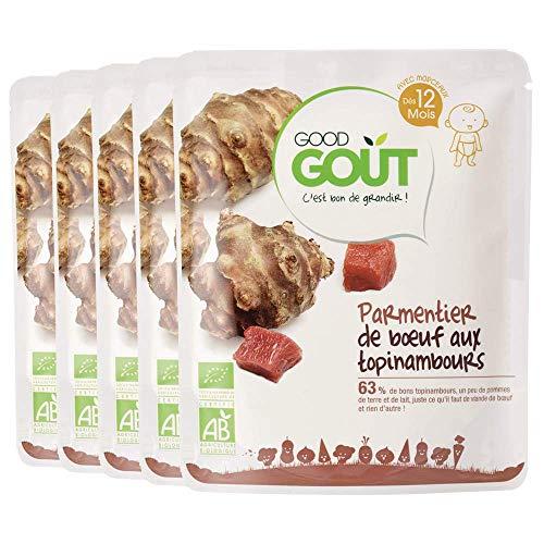 Good Goût - BIO - Parmentier Bœuf Topinambour dès 12 mois 220g - Lot de 5