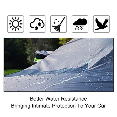 Whitejianpeak Car Cover Compatible with Ford Mustang GT/Shelby/Cobra/Bullitt/ECOBOOST(1965-1973/1994-2021), All Weather Full Car Covers Waterproof Cover Outdoor Car Tarpaulin with Storage Bag
