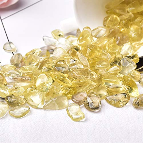 JINGGEGE 50g / 100g Natürliche Kristall Kies Probe Amethyst Home Decor Bunt für Aquarium Heilung Stein Rock Mineral Weihnachten DIY Geschenk (Color : Citrine, Size : 100g)