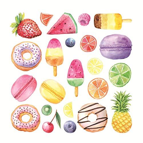 Helado Macaron Donut Pegatinas De Pared, Decoración De Ventanas Habitación De Los Niños Decoración De La Pared Pegatinas De Dibujos Animados
