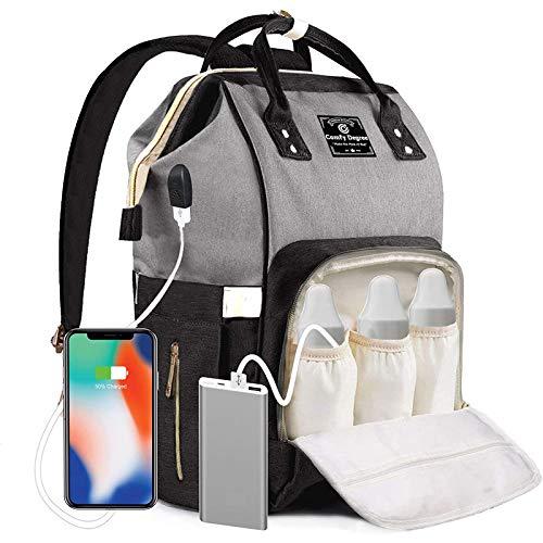 ComfyDegree Baby Wickelrucksack Wickeltasche, Multifunktionale Wasserdichte Babytasche...