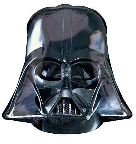 Amscan 2844501 - Super Shape Folienballon Darth Vader Helm, 63 x 63 cm, Star Wars, Heliumballon