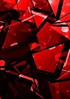igsticker ポスター ウォールステッカー シール式ステッカー 飾り 1030×1456㎜ B0 写真 フォト 壁 インテリア おしゃれ 剥がせる wall sticker poster 004590 ラグジュアリー 模様 シンプル 赤