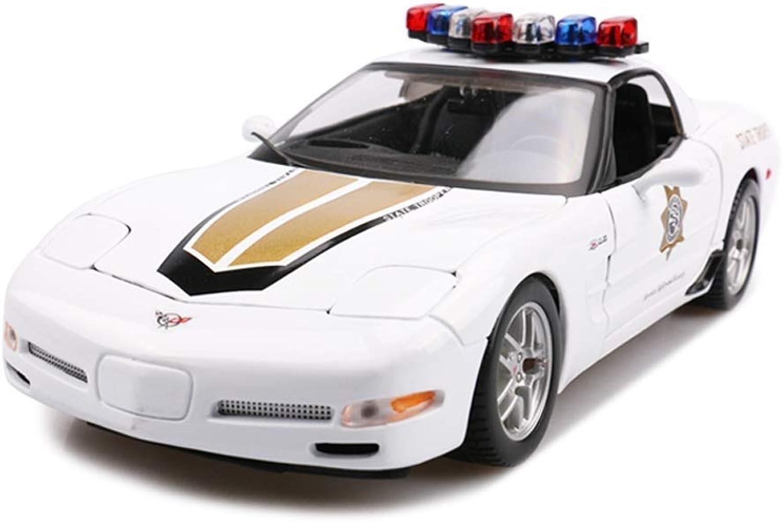 perfecto YaPin Model Coche Chevrolet Chevrolet Chevrolet Corvette Z06 Policía Coche 1 18 Modelo de Coche Modelo de Coche de Aleación de Coche de Coche de Coche de Coche de Deportes Estáticos de Deportes Regalo  precios razonables