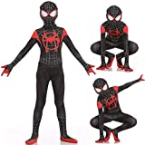 Aodai Kids Superhero Costume for Kids Superhero Costume - Suitable for Kids Halloween Cosplay Superhero Poetry Costume Black