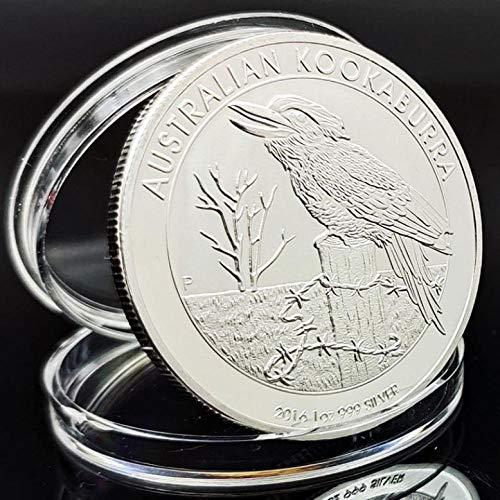 XCDJF Australian Animal Challenge Münze Cute Bird Versilberte Gedenkmünze Elizabeth II Collection Silbermünze Größe: 40 * 3mm, Material: Versilbert