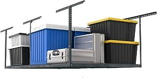 "FLEXIMOUNTS 4x8 Overhead Garage Storage Rack Adjustable Ceiling Garage Rack Heavy Duty, 96"" Length x 48"" Width x (22``-40"" Ceiling Dropdown), Hammertone"