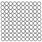 Anillo de sello negro Universal 100 piezas Kit de surtido de juntas tóricas de arandela de sellado eléctrico para uso doméstico