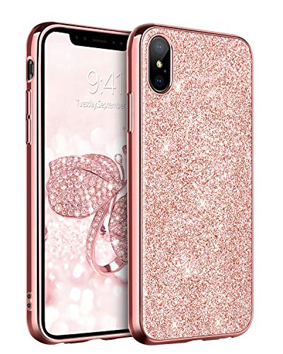 BENTOBEN Case for iPhone XS Max 2018, Slim Glitter Shiny Full Body Protective Flexible Soft TPU Shockproof Anti Scratch Sturdy Non Slip Girl Women Phone Covers for Apple iPhone XS+ MAX 6.5