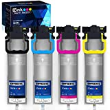 E-Z Ink (TM) Remanufactured Ink Pack Replacement for Epson 902 T902 High Yield to use with Workforce WF-C5210, WF-C5290, WF-C5710, WF-C5790 (Black, Cyan, Magenta, Yellow, 4 Pack