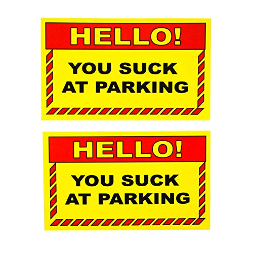 RXBC2011 Prank gifts Bad Parking You suck at Parking Business Cards Double sided (Pack of 100)