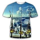 Herramientas De Pesca 3D Impreso Tops Cuello Redondo Casual Manga Corta para Hombres Mujeres Verano Camisetas Personalizadas,2XL