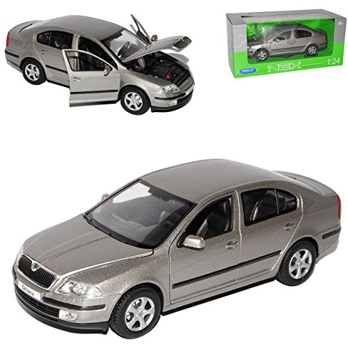 Welly Skoda Octavia II Silber Limousine 1Z Vor Facelift 2004-2009 1/24 Modell Auto