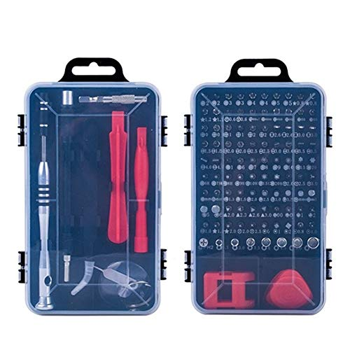 Juego de destornilladores de precisión 110 en 1 Kit de herramientas profesionales de reparación de tornillos para PC computadora reloj de teléfono móvil (color negro)