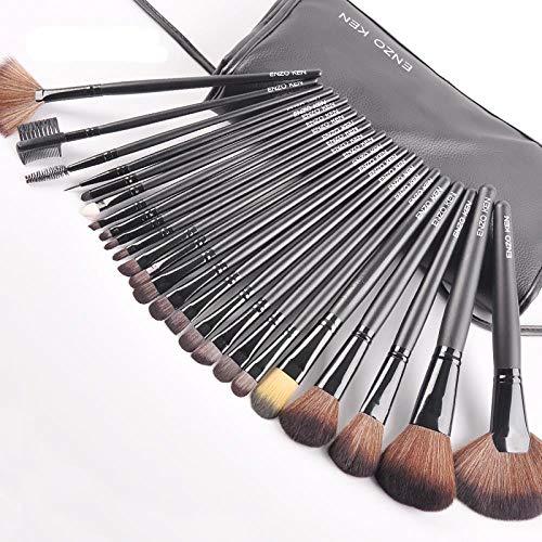 Ensemble De Pinceaux De Maquillage Professionnel 24Pcs Pinceau De Maquillage Pinceau En Poudre Ensemble Pinceau Outil De Maquillage Cheveux Doux Brosse À Paupières, Noir