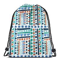 ドローストリングバッグ新しい部族バックパックプルストリングバッグ女の子用バルクスポーツ収納ジム再利用可能なトラベルリュックサック