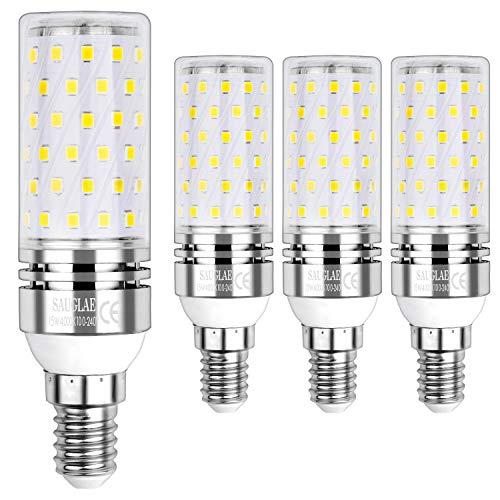 Sauglae E14 Led Mais Leuchtmittel 15W, Entspricht 120W Glühbirnen, 4000K Neutralweiß, 1500lm, Kleine Edison Schraube Led Birne, 4-Pack