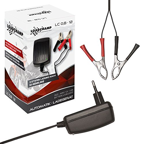 Loadchamp Automatik Batterie Akku Ladegerät 0,8A 12V Batterieladegerät