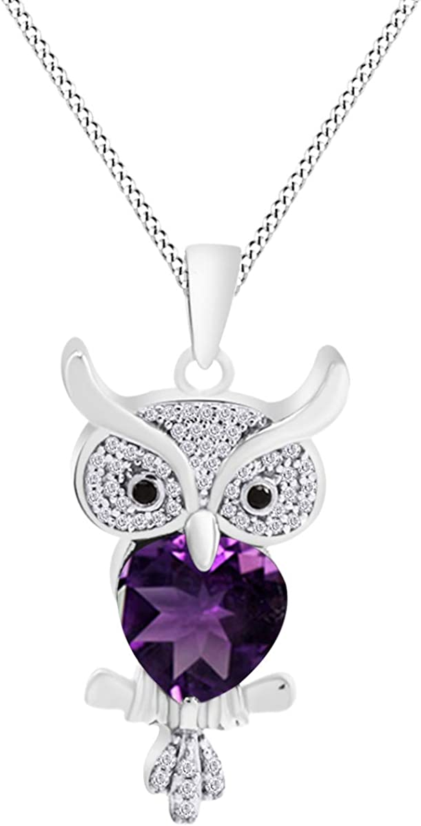 AFFY Multi Stone Owl Pendant Necklace ついに再販開始 Over in Gold 14K 商品 Sterling