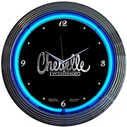 Neonetics Cars and Motorcycles Chevelle Neon Wall Clock, 15-Inch