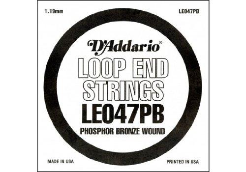 D'Addario LE047PB, cuerda individual de bronce fosforado con terminación de lazo.047