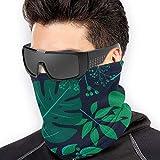 Braga Cuello Moto Calentador de Cuello Deporte Calentador Pasamontañas Polar Multifuncional Máscara Exotic Leaves Rainforest Pattern Men's Women's Face Masks BandaNeck Warmer Reusable Mask