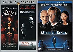 Death and the Devil Movie Combo - Meet Joe Black, Devil's Advocate & Insomnia 3-DVD Bundle