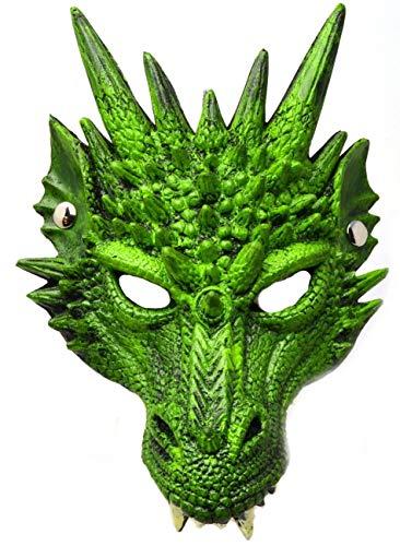 VENTURA TRADING AM4 Mscara de dragn Lagartija Reptil Mascara Facial Mascara Veneciana Mascarada Partido Mscara de Animal
