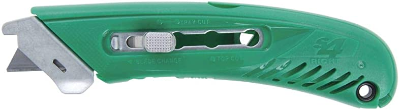 Pacific Handy Cutter S4R Safety Cutter, Retractable Utility Knife with an Ergonomical Design, Bladeless Tape Splitter, Steel Guard for Safety and Damage Protection, for Warehouse and In-Store Cutting