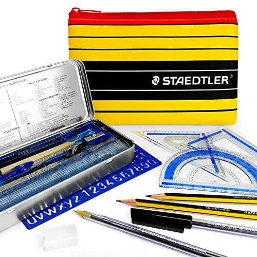 Staedtler Noris Club Federmäppchen-Mathematik-Set, enthält wesentliche Schul- und College-Mathematik-Utensilien, mit passendem Staedtler Federmäppchen