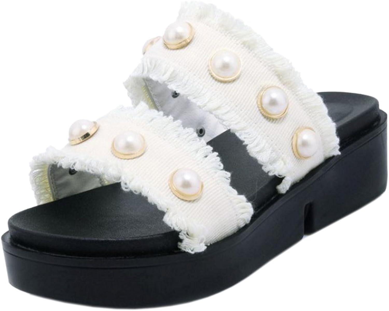JOJONUNU Women Flatform Mules Sandals