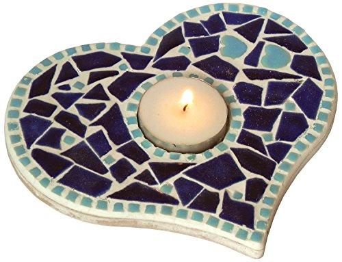 Kit mosaïque décoration bougeoir DIY bleu