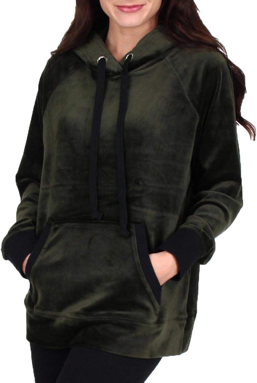 Juicy Couture Black Label Womens Velour Hooded Sweatshirt