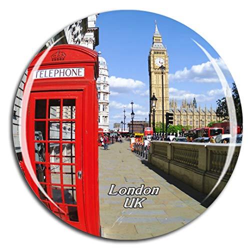 Weekino Reino Unido Inglaterra Cabina telefónica roja Londres Imán de Nevera 3D de Cristal de la Ciudad de Viaje Recuerdo Colección de Regalo Fuerte Etiqueta Engomada refrigerador