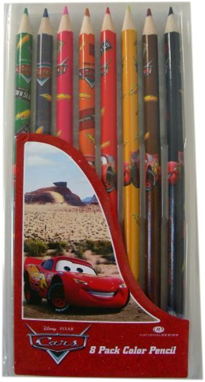 Disney Pixar Cars colour Pencils - 8 per pack [Toy]