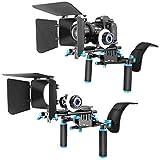 Neewer - Kit para filmación con cámara DSLR, Incluyen Soporte de Hombro + Follow Focus y...