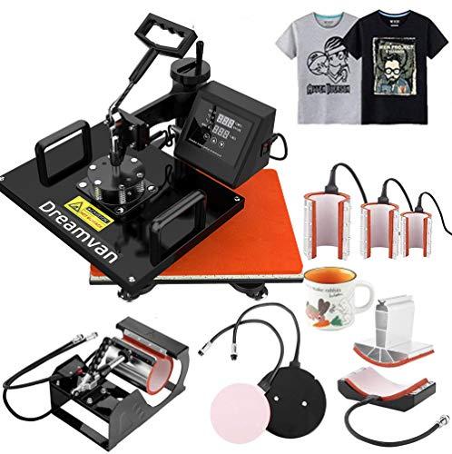 Heat Press,Heat Transfer Machine 12X15-950W, Digital LED Timer 360° Tshirt...