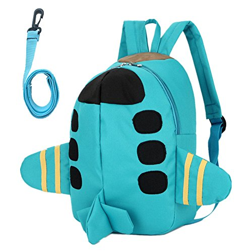 Beide Toddler Schoolbag 3D Airplane Backpack (Green)