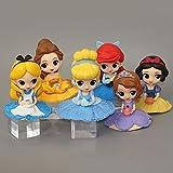 Yaoqshu Figura de acción 6 Piezas Q Posket Sofia / Blancanieves / Alicia / Campana / Sirena Princesa...