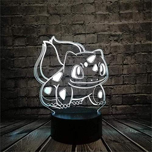 Pokémon cambia el color de la visión 3D de los niños luz nocturna creativa regalo de vacaciones