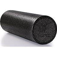 High Density Exercise Foam Roller - 18 Inches - Black