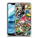 Head Case Designs Officiel Suzan Lind Mélange 2 Oiseaux Coque en Gel Doux Compatible avec Nokia 5.1...