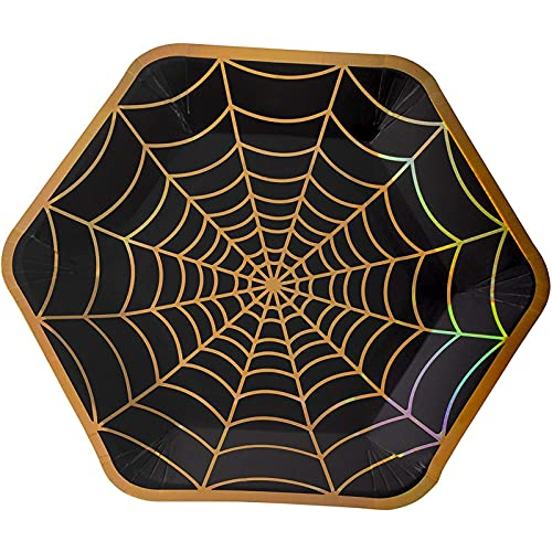 Halloween Party Paper Plates, Spider Web