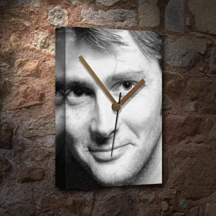 Seasons David Tennant - Canvas Clock (Large A3 - Signed by The Artist) #js006