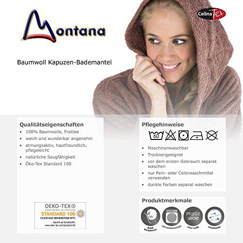 CelinaTex Montana Bademantel mit Kapuze