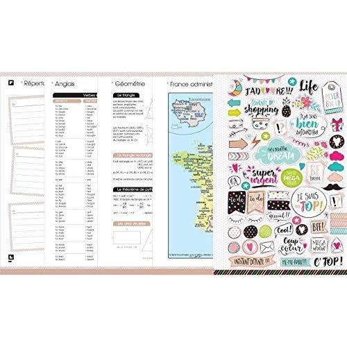 OXFORD 100738401 10Dence Agenda Scolaire journalier 2019-2020 1 Jour par Page 352 pages 12x18 Flamant rose