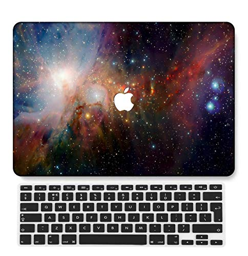 GangdaoCase Plastic Ultra Slim Light Hard Shell Case Cut Out Design Compatible New MacBook Pro 13 inch with Touch Bar/Touch ID with UK Keyboard Cover A2289/A2251 (Galaxy B 0116)