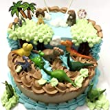 12Pcs Dinosaur cake toppers figures Characters Premium Dinosaur Cake Toppers good Dinosaur cake decorations and Party Favors for Dinosaur party supplier birthday